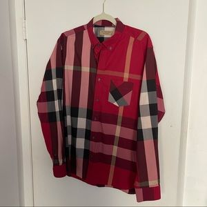 Burberry Red Nova Check Shirt